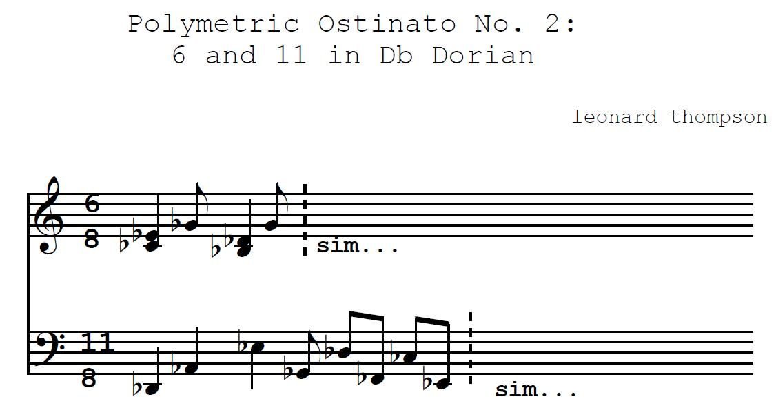 Polymetric Ostinato For Piano No. 2