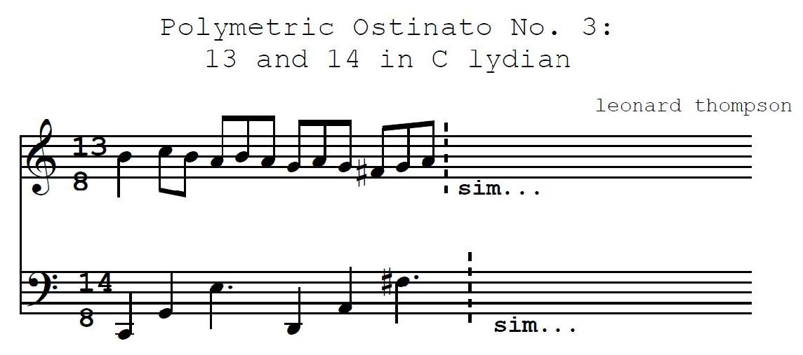 Polymetric Ostinato For Piano No. 3