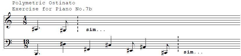 Polymetric Ostinato For Piano No. 7b