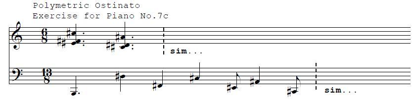 Polymetric Ostinato For Piano No. 7c