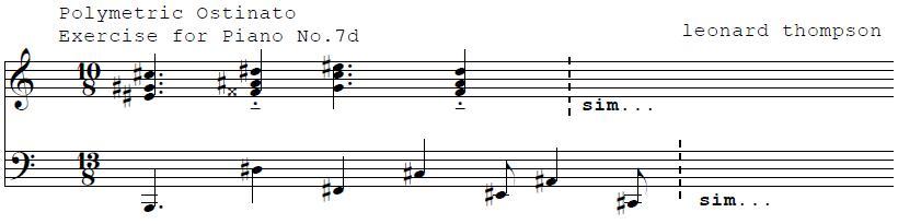 Polymetric Ostinato For Piano No. 7a