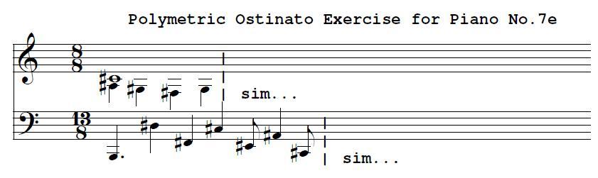 Polymetric Ostinato For Piano No. 7e