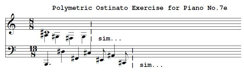 Polymetric Ostinato For Piano No. 7e